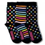United Oddsocks Twinkle - pack of 3 girl's odd socks (not pairs).